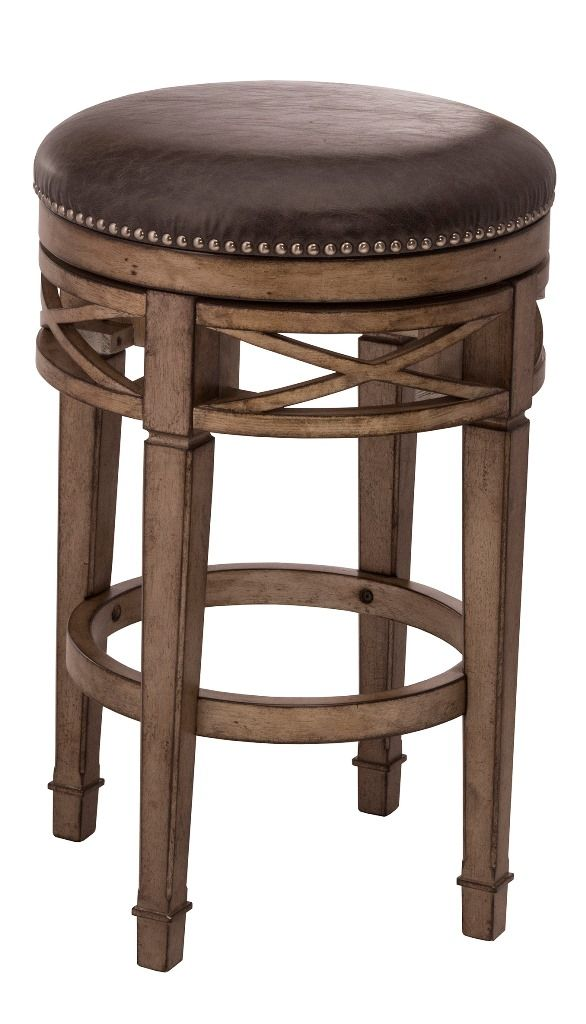 Chesterfield Backless Swivel Counter Stool Hillsdale