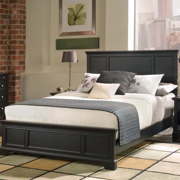 Thome Standard Bed Black King Bed Relaxing Master Bedroom King
