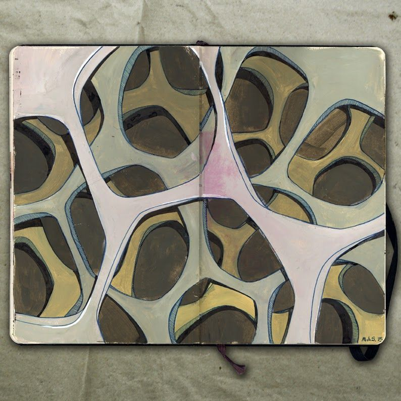 Cell Wall _ Drawing, 2015 _Mariasun Salgado