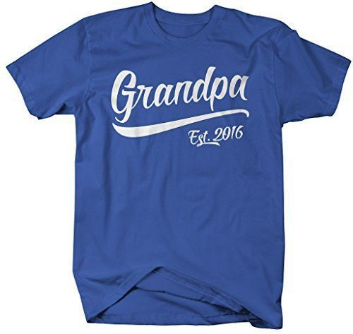 Shirts By Sarah Men's Grandpa Est. 2016 T-Shirt Fathers Day Shirts