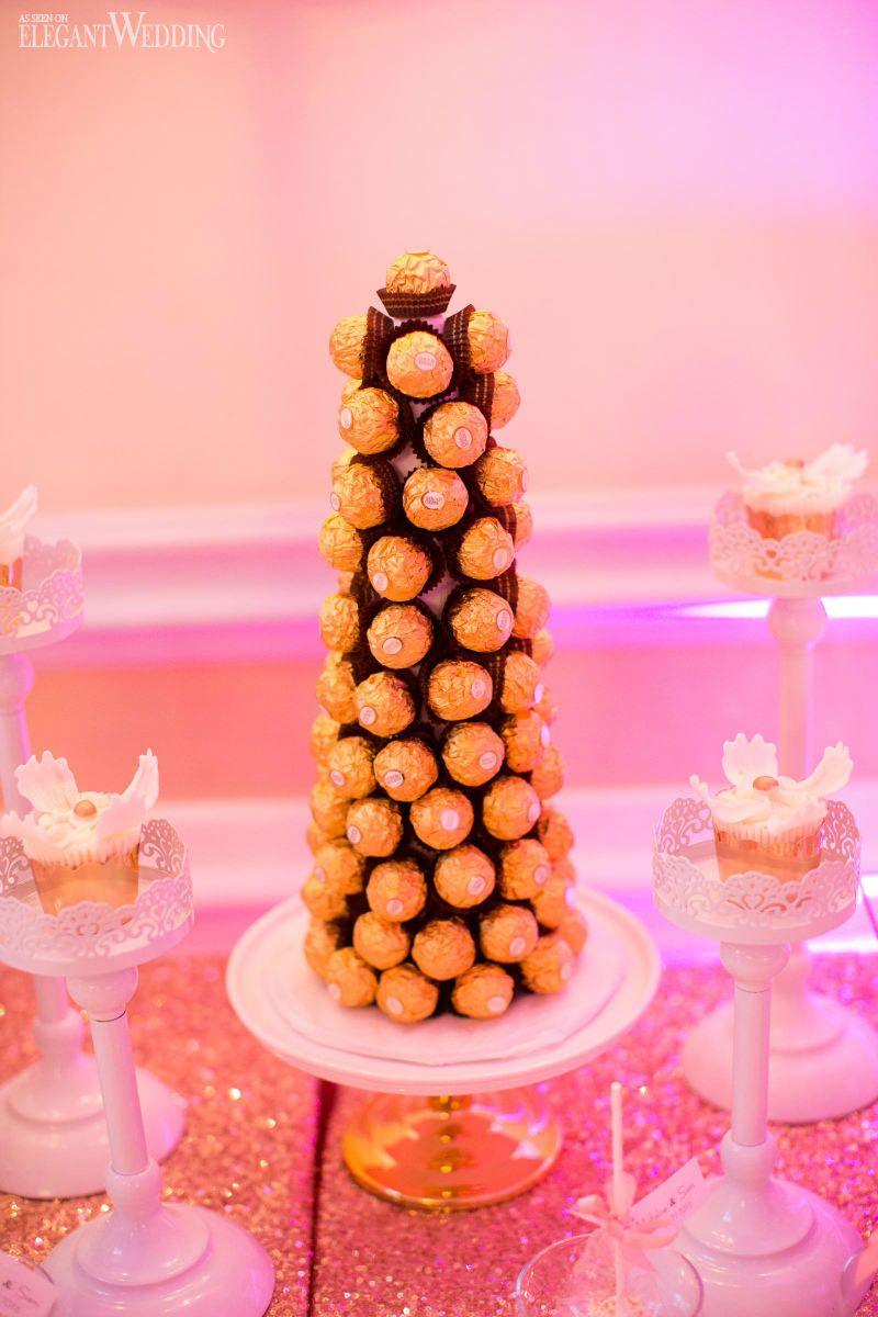 Glamorous Montreal Wedding With Pink Details | Wedding sweets ...