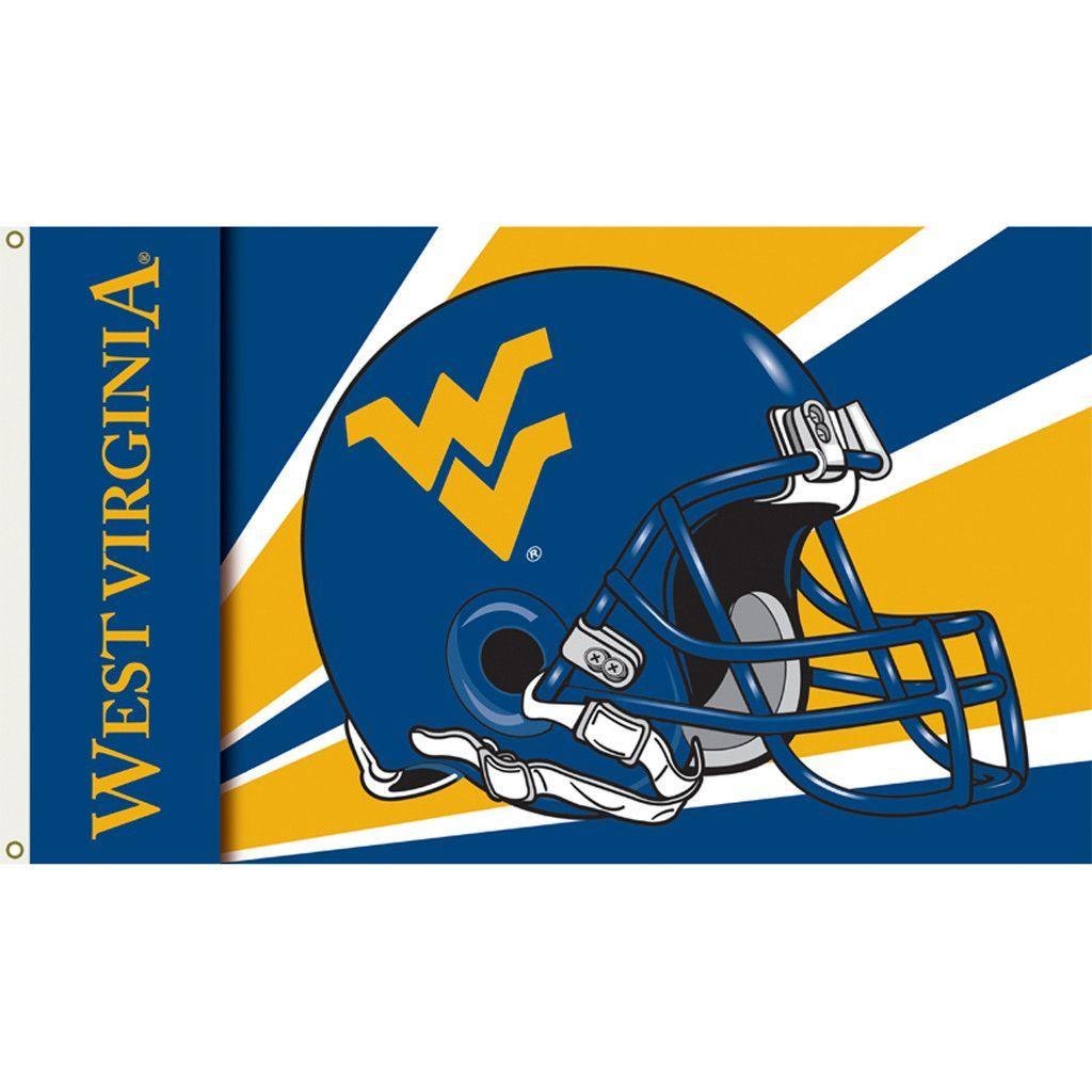 West Virginia Mountaineers Football Helmet Flag West Virginia Mountaineers Football Football Helmets West Virginia