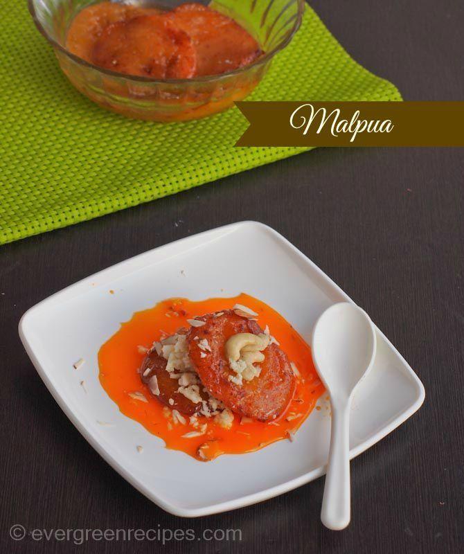 Malpua | Instant Orange Malpua : Evergreen Recipes
