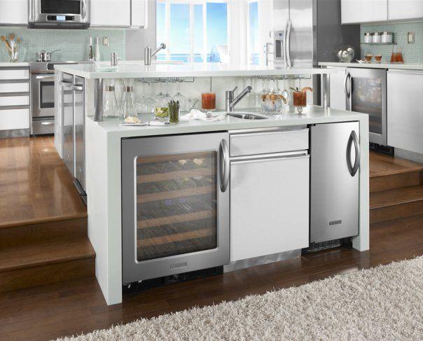 Two level custom kitchen with wolf and sub zero kitchen - Capital kitchen appliances ...