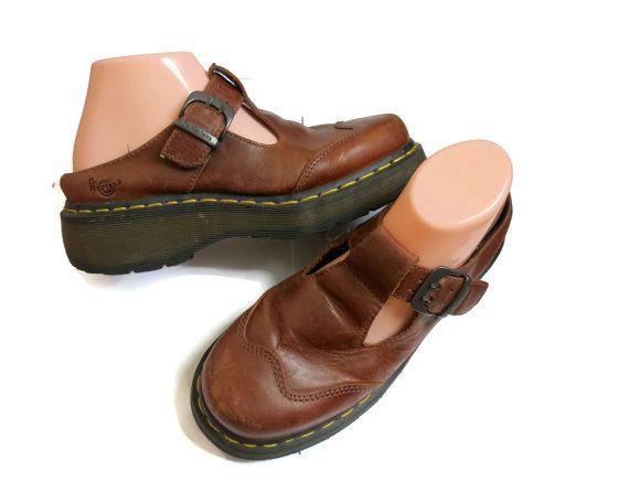 5c3004cf00416 Doc Martens Size 6 90s Mary Janes Mules Slides Boots Platforms ...