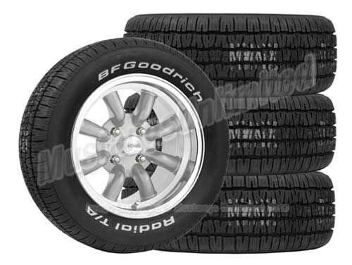 Whl Tire Pkg Rewind Silver 15x7 215 60r15 T A Mustang Tire Wheels Tires