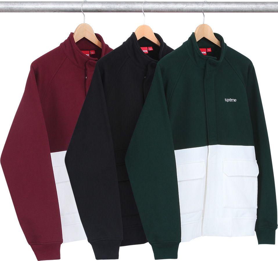 Supreme Classic Logo Striped Rib Crewneck Classic Logo Adidas Jacket Nike Jacket [ 900 x 957 Pixel ]