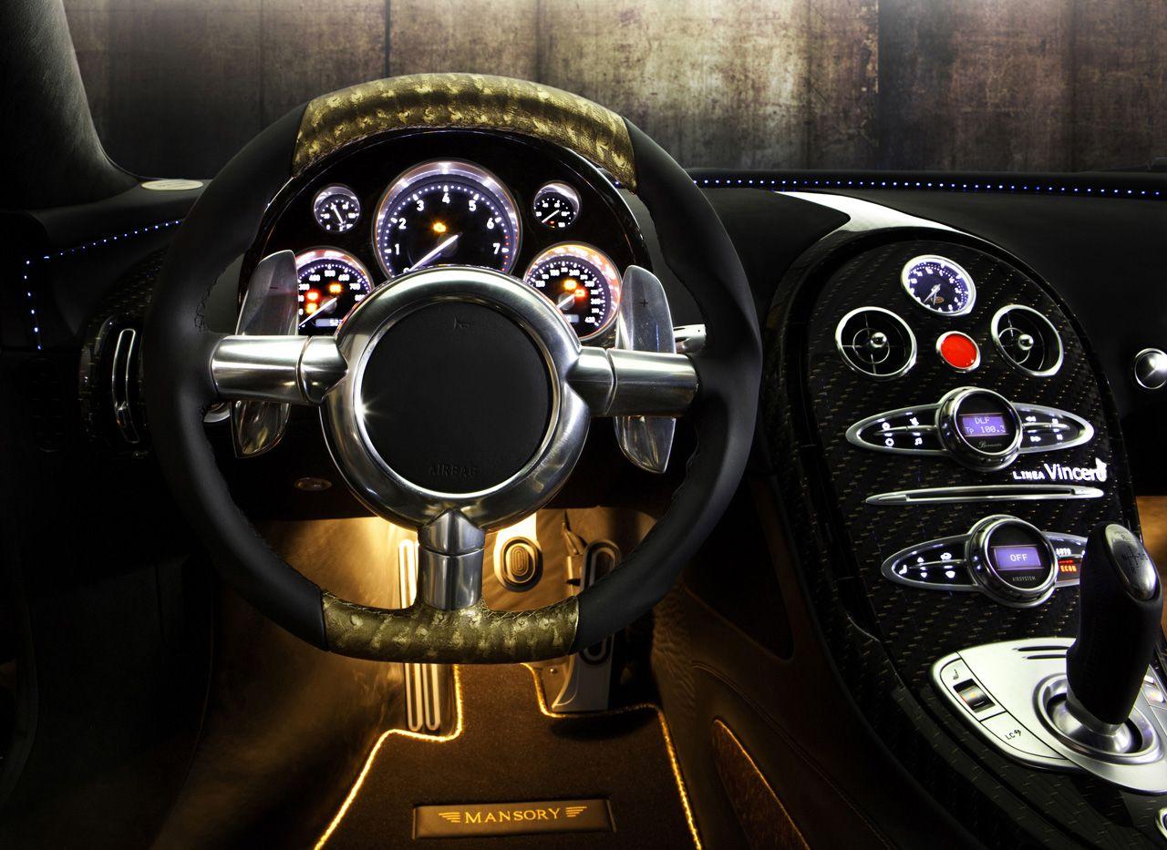 Bugatti Veyron Mansory Gold Edition Bugatti Veyron Bugatti Veyron Interior Bugatti