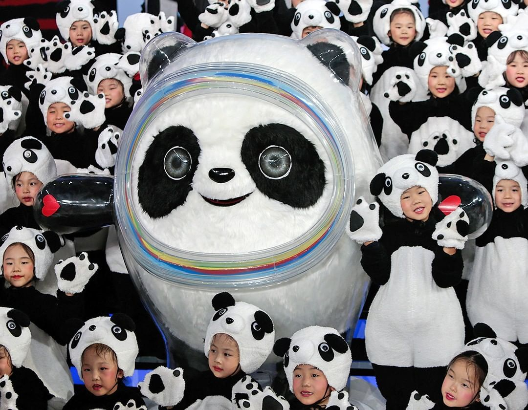 The Economist On Instagram Bing Dwen Dwen Mascot Of The 2022 Olympic Winter Games In China Has Been Unveiled Duri Olympic Mascots Winter Games Hockey Arena