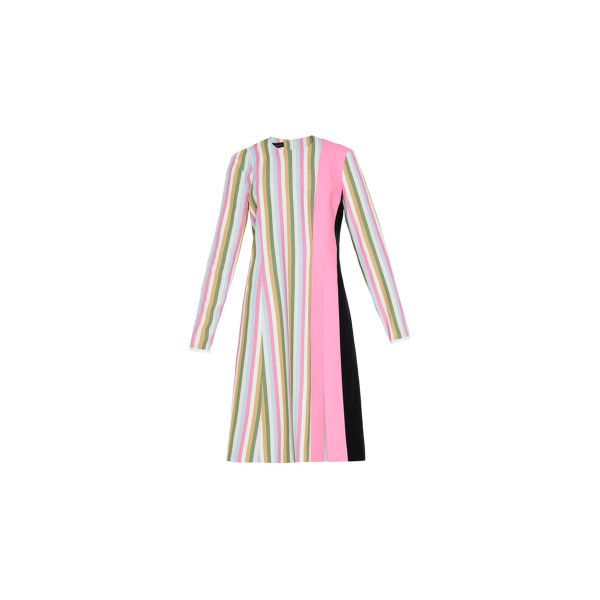 Jonathan Saunders Alice color-block stretch-crepe dress (27.305 RUB) via Polyvore featuring dresses, white striped dress, colorblock dress, block print dress, panel dress и white color block dress
