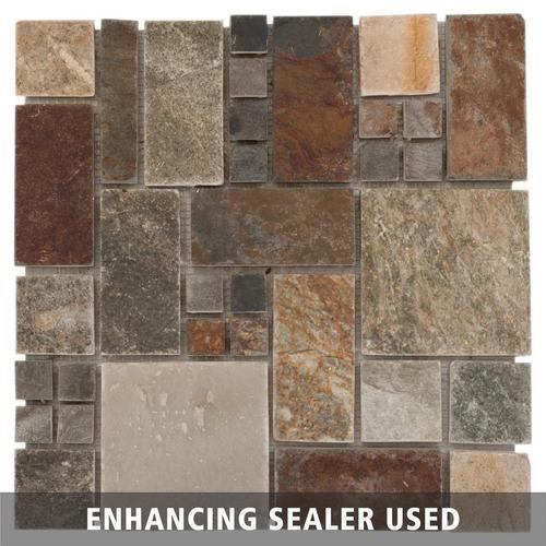 Decorative Slate Tiles Adirondack Pattern Light Decorative Slate Mosaic  Slate Mosaics
