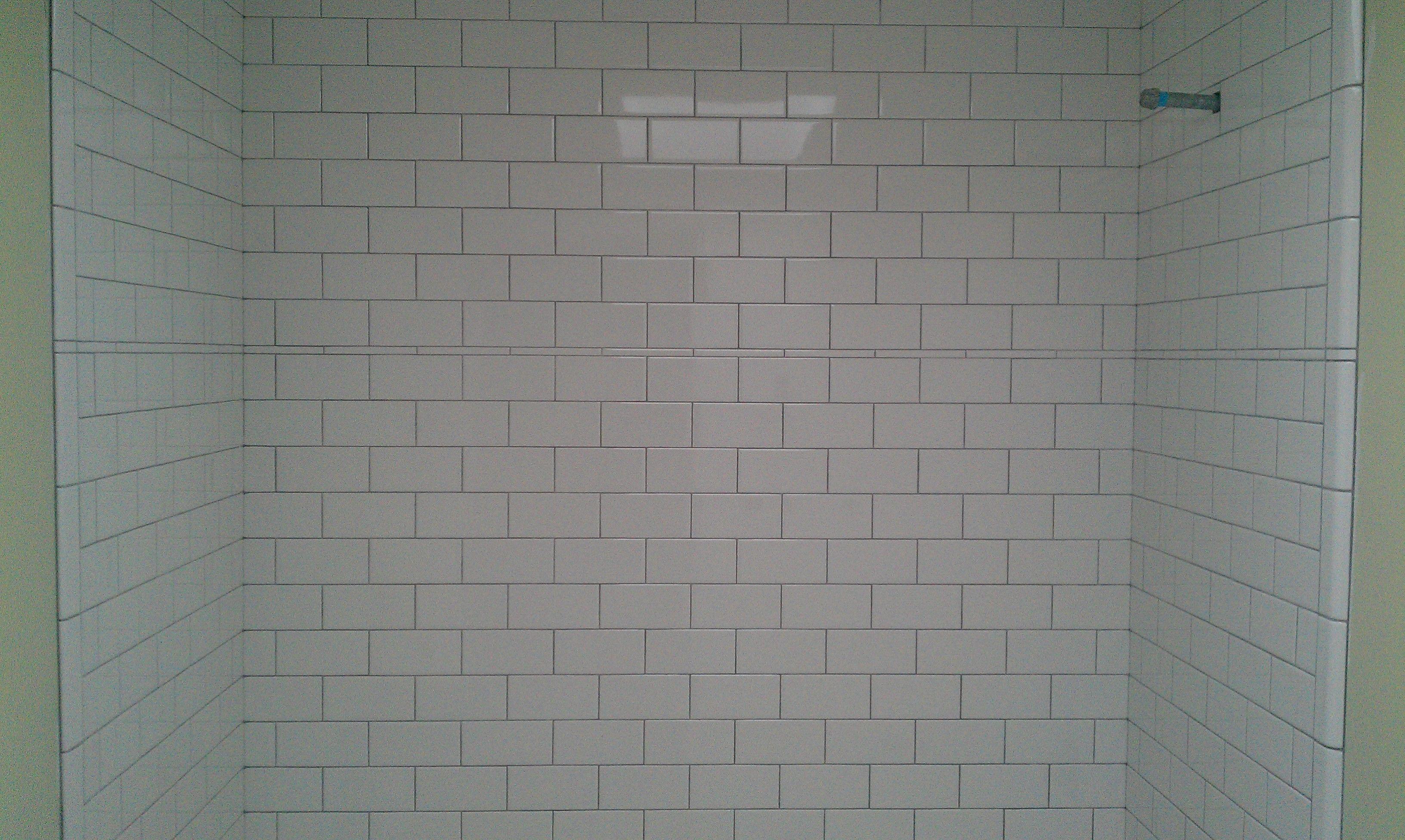 Delorean gray grout white subway tile home makeover bathroom delorean gray grout white subway tile dailygadgetfo Gallery