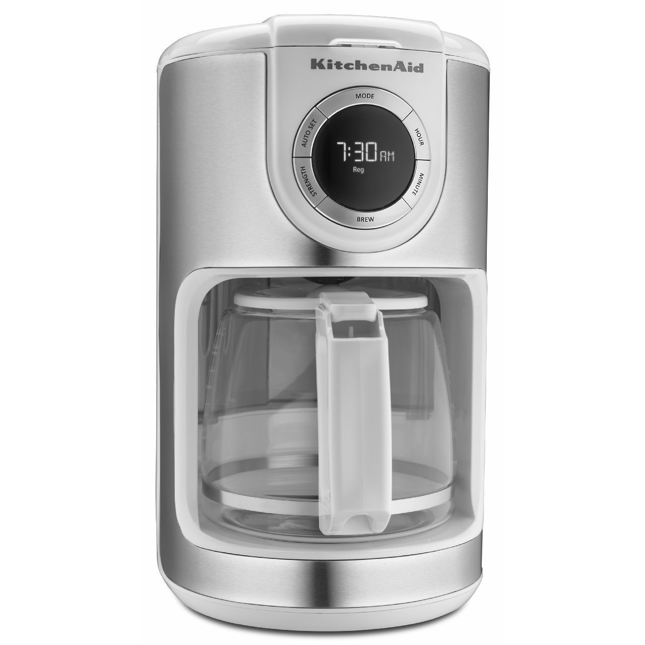 KitchenAid KCM1202WH White 12 cup Glass Carafe Coffee Brown Maker