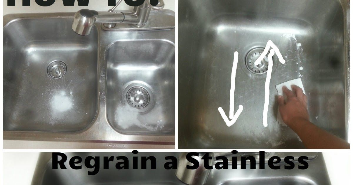 Make Your Stainless Steel Sink Shine Like New Again Easily Get Rid Of Surface Scratches And Hard Water Stains W Stainless Steel Sinks Stainless Sink Stainless