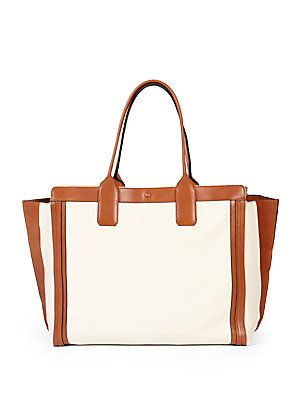 01e2687853b0 Need a stylish carry-on tote? The Chloe Alison Leather Tote is ...
