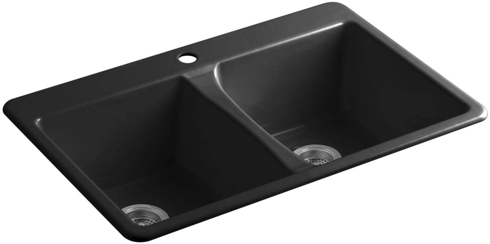 Kohler K 5873 1 Cast Iron Kitchen Sinks Sink Top Mount Kitchen