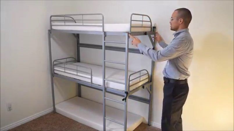 Bedding Tribunk A Collapsible Triple Bunkbed For Kids Youtube