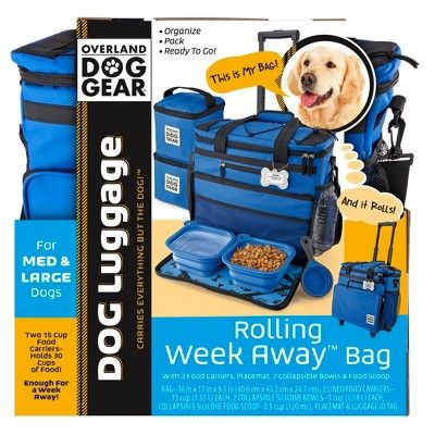Overland Travelware Dog Rolling Weekender Royal Blue Size