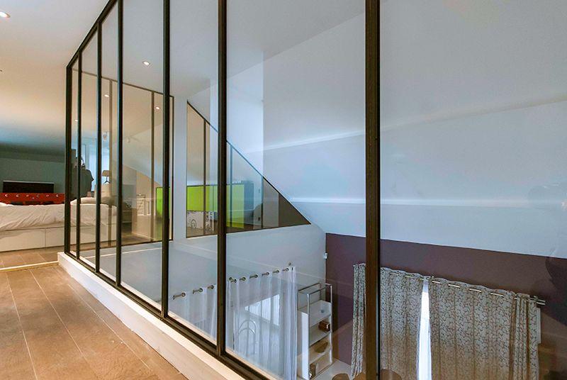 verri re m tallique sur mezzanine les ateliers du 4 verri res d 39 int rieur pinterest. Black Bedroom Furniture Sets. Home Design Ideas