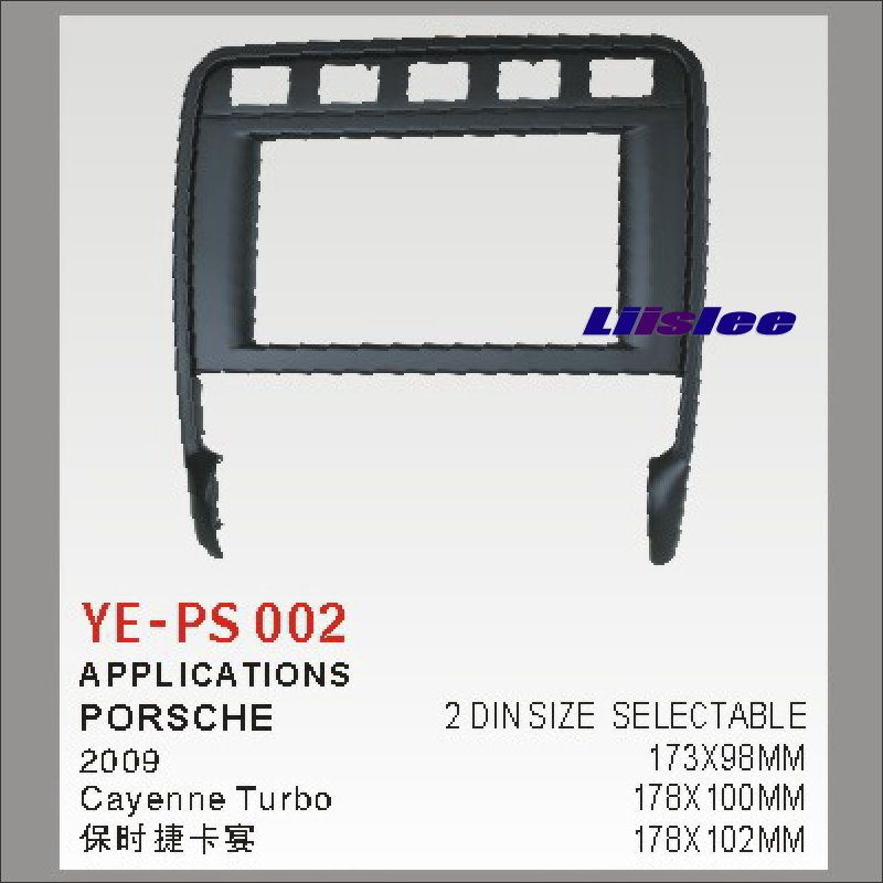 Liislee 2 DIN Car Refitting Frame Panel For Porsche Cayenne Turbo