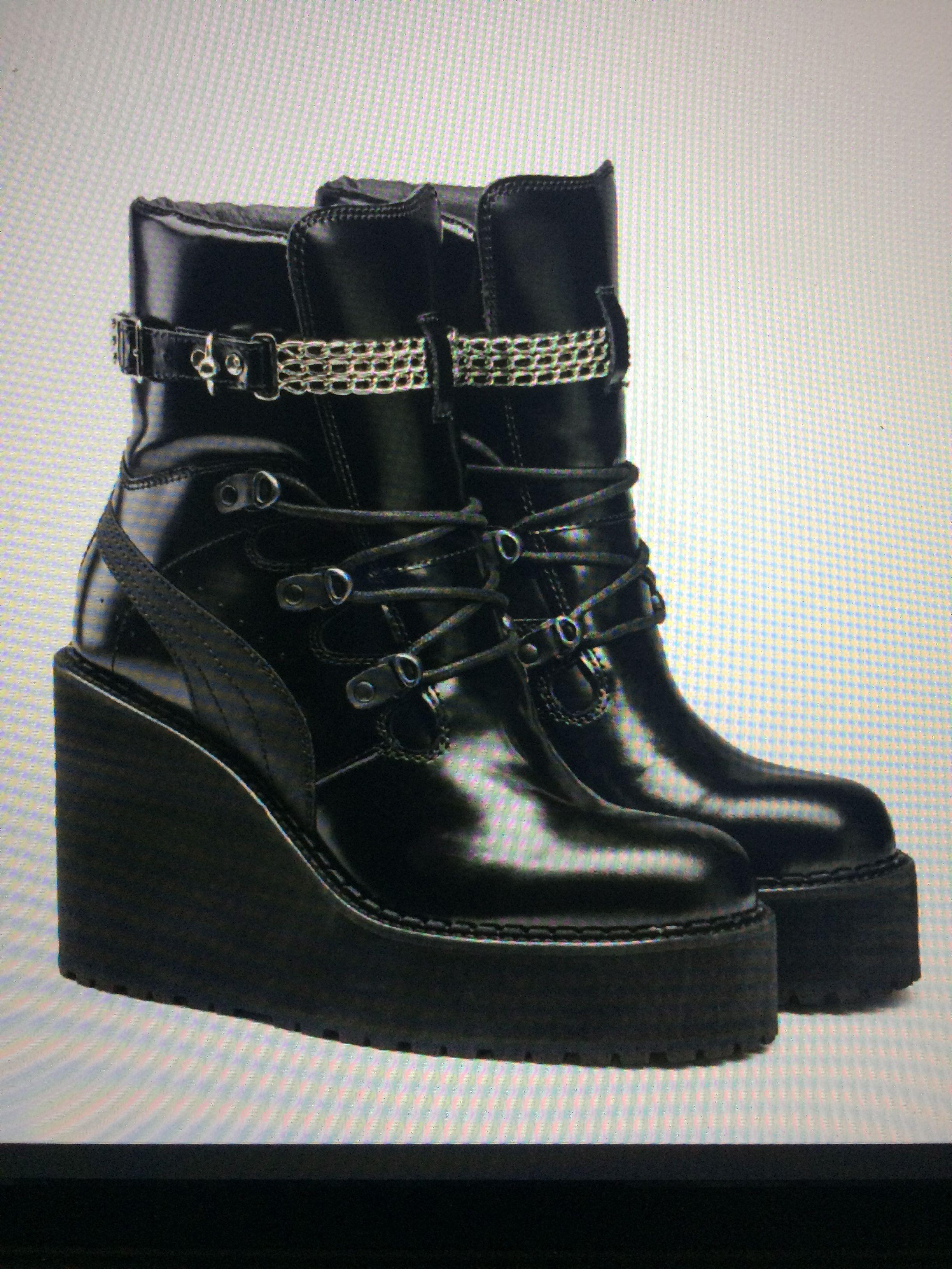 RIHANNA X PUMA Black Sneaker Boot Wedge  454589fee