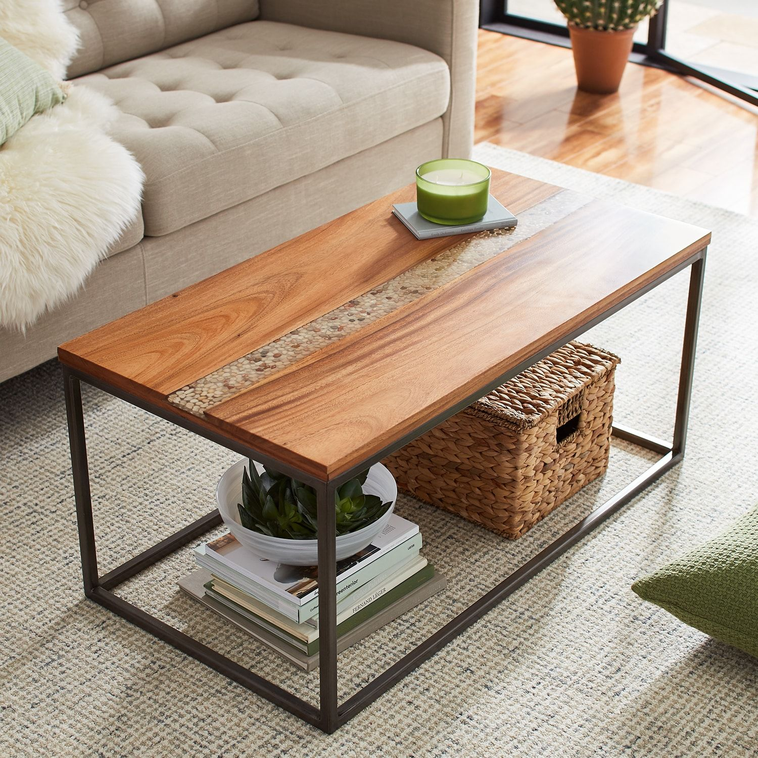River Rock Coffee Table Coffee Table Round Glass Coffee Table