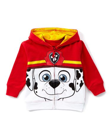 6b7757dfc Another great find on  zulily! Red   White PAW Patrol Marshall Zip ...