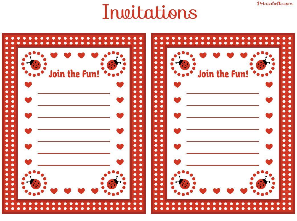 Free Printable Ladybug Invitations Ladybug Invitations Free