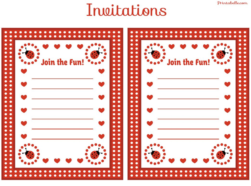 FREE Ladybug Party Printables from Printabelle | Ladybug ...