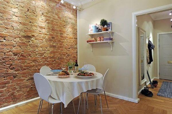 Paredes de ladrillo a la vista en interiores revistas - Ladrillos decorativos para interiores ...