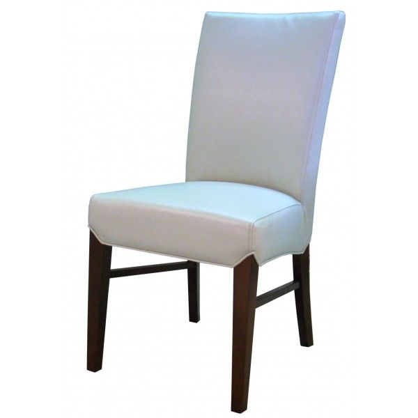 Milton White Bonded Leather Chair 19 X 24.5 X 39.5  20; Rent: