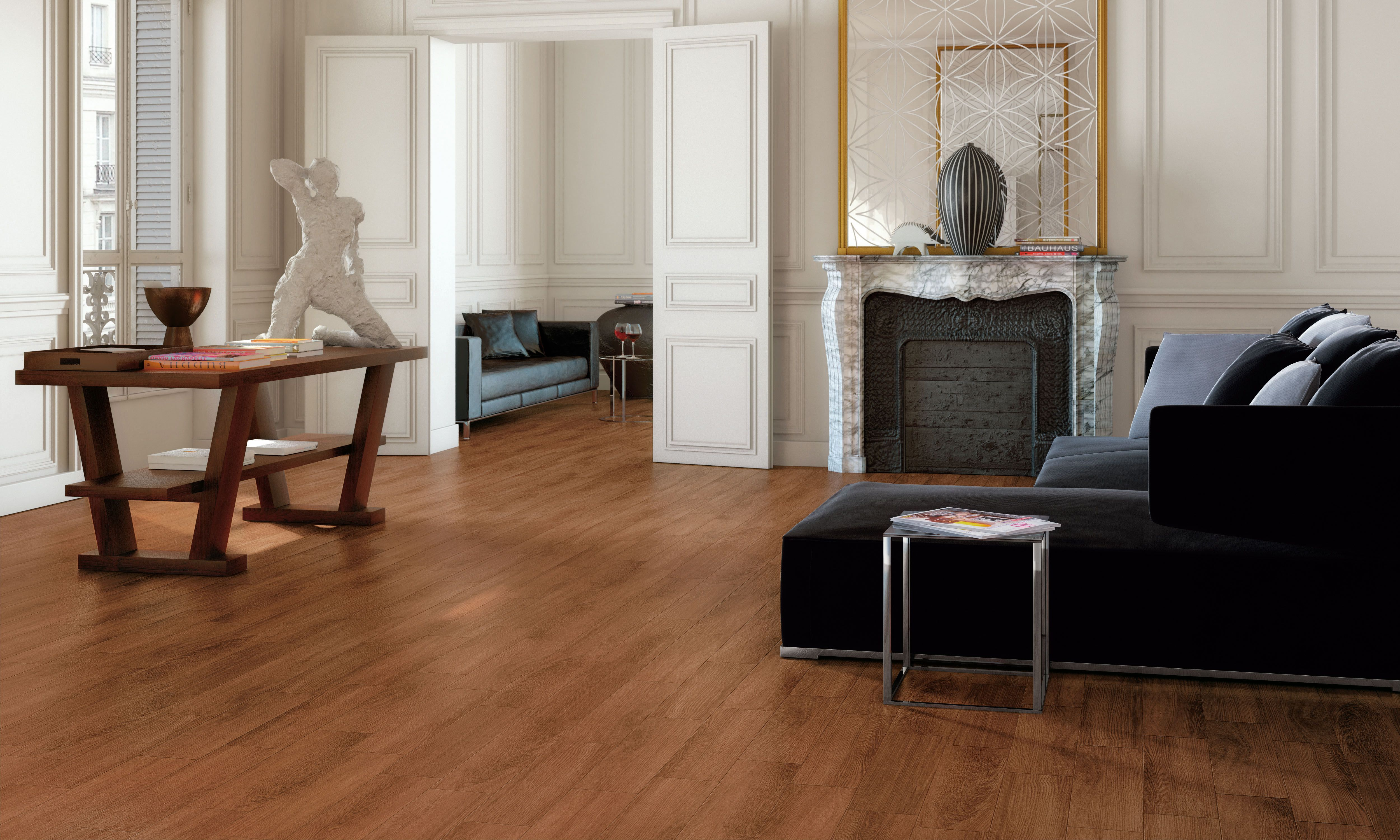 Sassuolo Stone Wood Porcelain Tile in Color Doussie Stocked in our