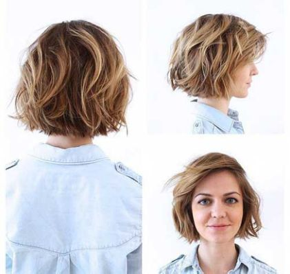 Short Layered Bob For Wavy Hair Mchelle Hair Hair Styles Shag