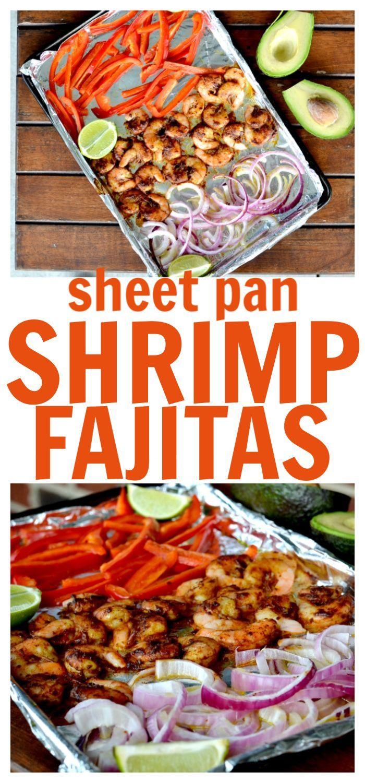One Pan Shrimp Fajitas