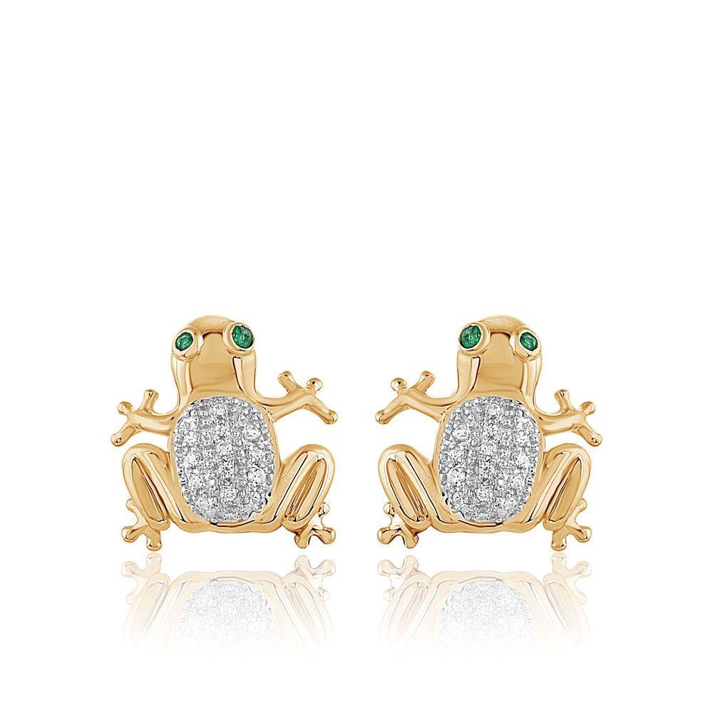 Frogs Stud Earrings Sterling Silver Jewelry