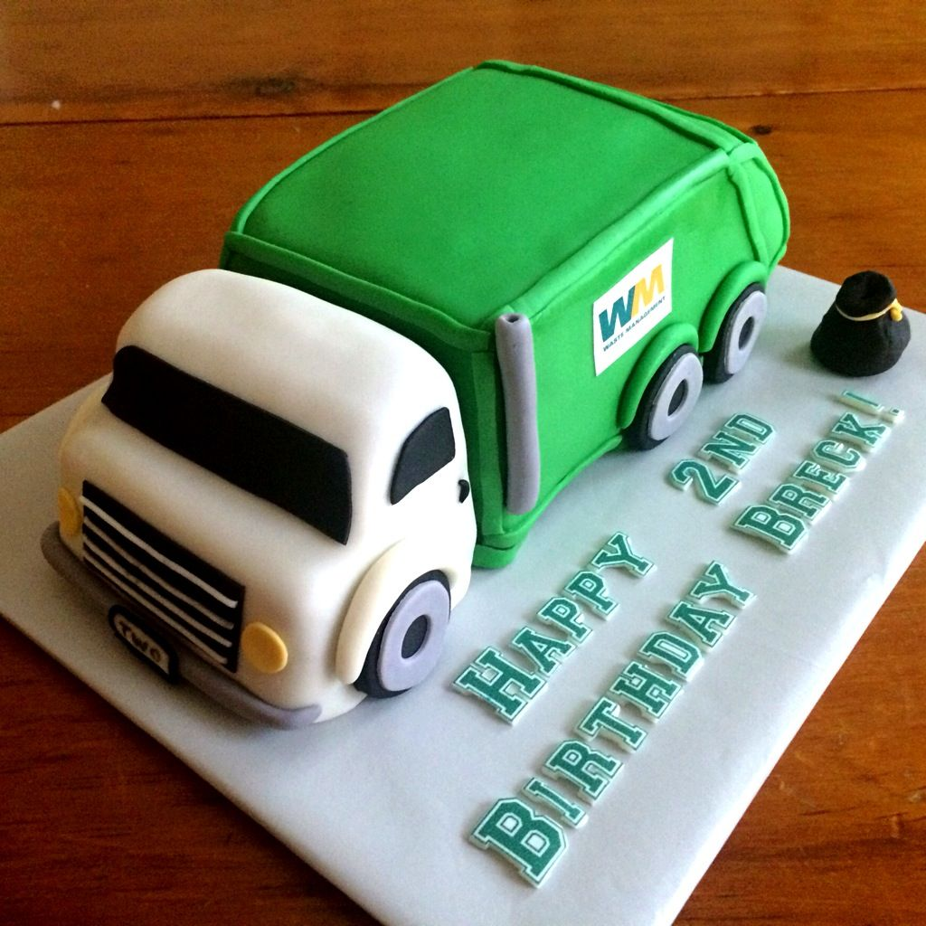 Get ready garbage truck coloring book - Garbage Truck Cake
