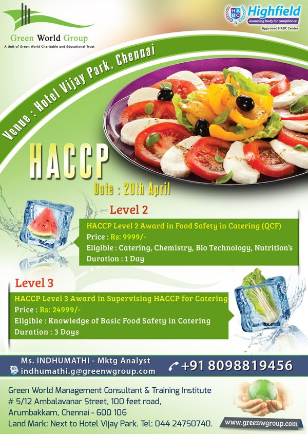 HACCP training in India Food safety training, Food