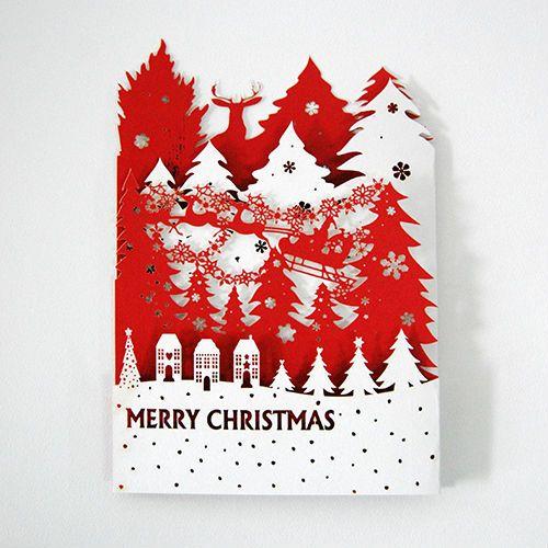 Laser Cut 3d Pop Up Christmas Greeting Cards Hg1401-01 , Find ...