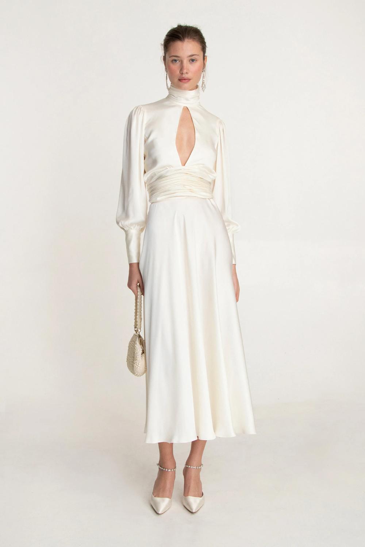 NIGHT OUT MAXI DRESS IVORY | Orseund Iris