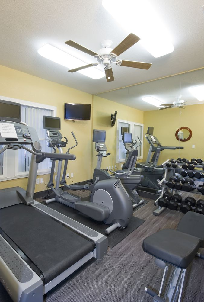 Small Home Exercise Studio With Treadmill Elliptical Trainer And - Small elliptical for home