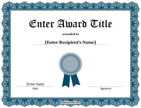 Microsoft Word Certificate Borders – Free Certificate Border Templates for Word