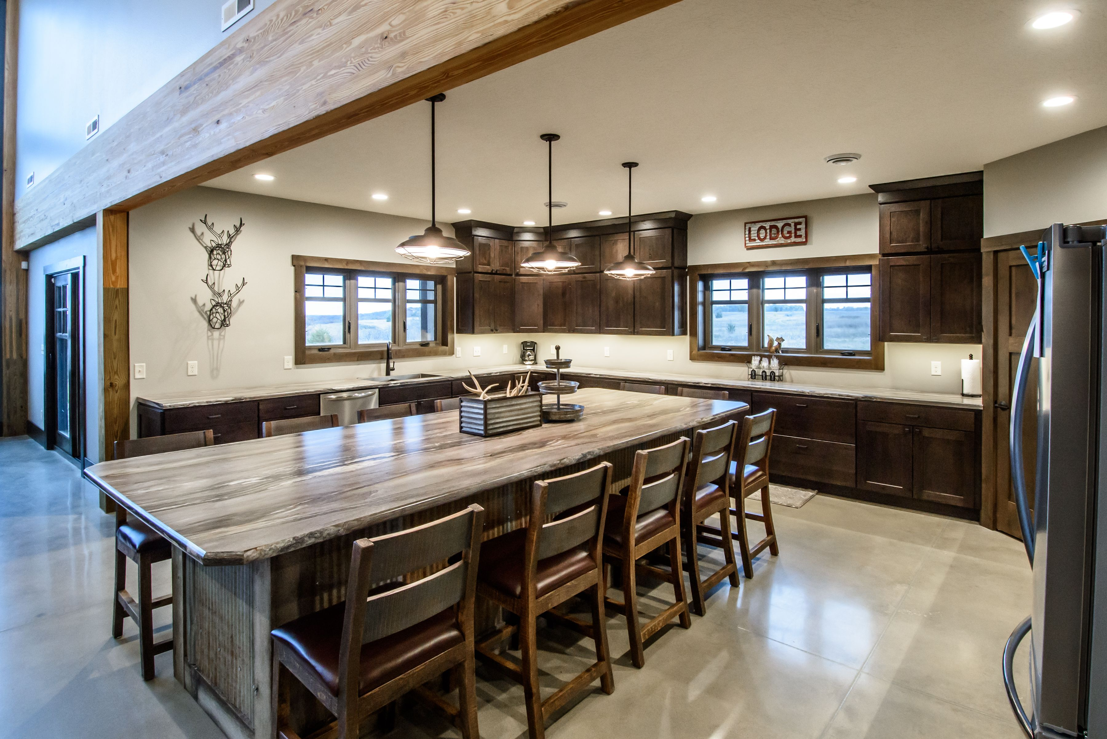 Ceiling Kitchen Style Island Wood Stunning Treatment Faux ...