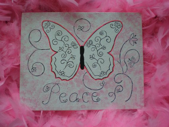 Original peace canvas painting by StarrJoy16 on Etsy, $20.00