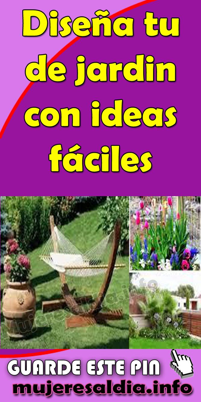 Dise a tu de jardin con ideas f ciles jardin for Decoracion de jardines y muros exteriores