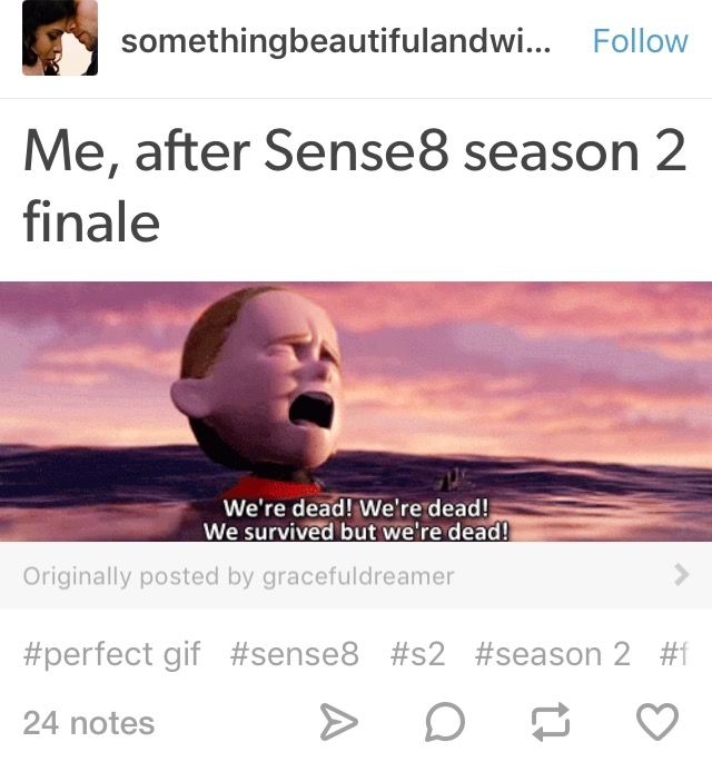 We survived because we're getting a 2hr finale but we're