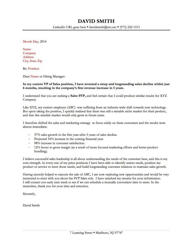 Sample Cover Letters for Employment | Your letter needs to impress ...