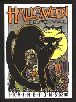 Irvington Indiana Halloween Poster | Historic Irvington Indiana ...