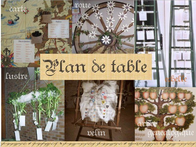 Deco mariage theme medieval idees id e d coration - Exemple plan de table mariage ...