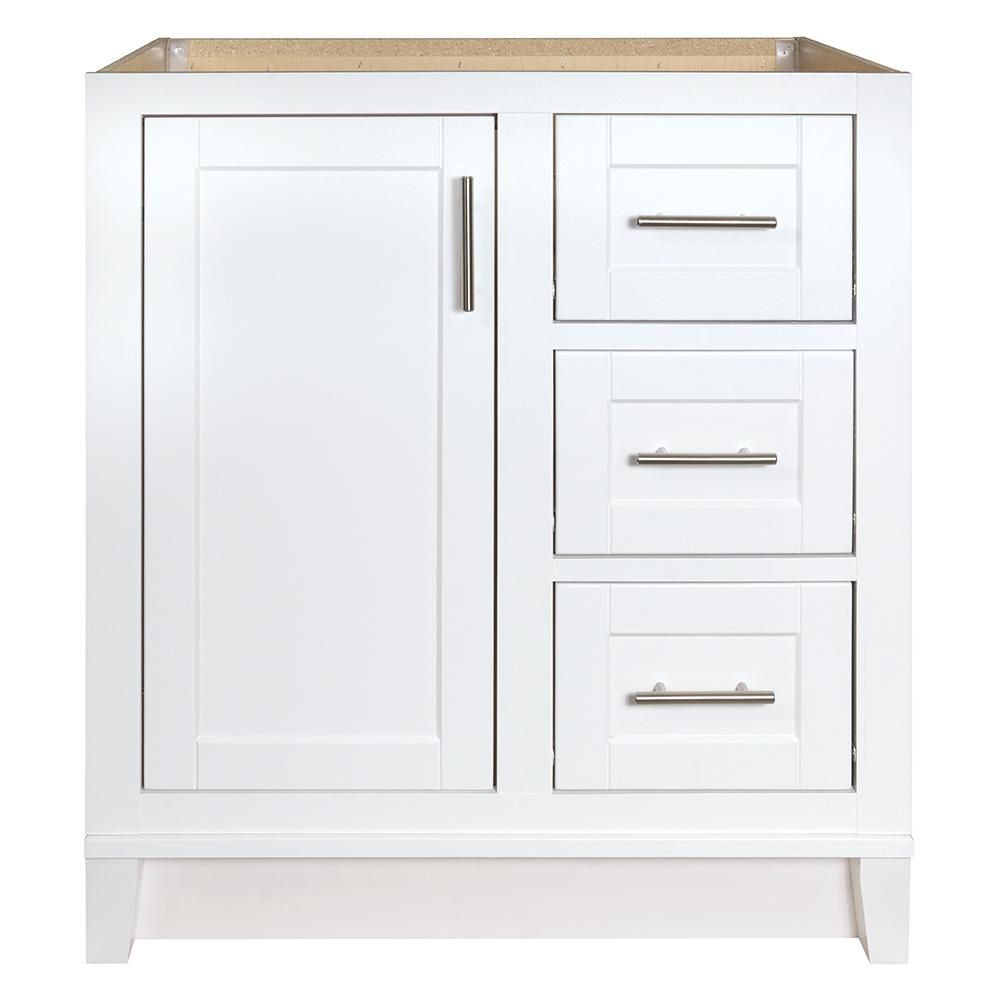 Glacier Bay Kinghurst 30 In W X 21 In D X 33 5 In H Bathroom Vanity Cabinet Only In White Khwht30dy Bathroom Vanity Cabinets Vanity Cabinet Bathroom Vanities Without Tops