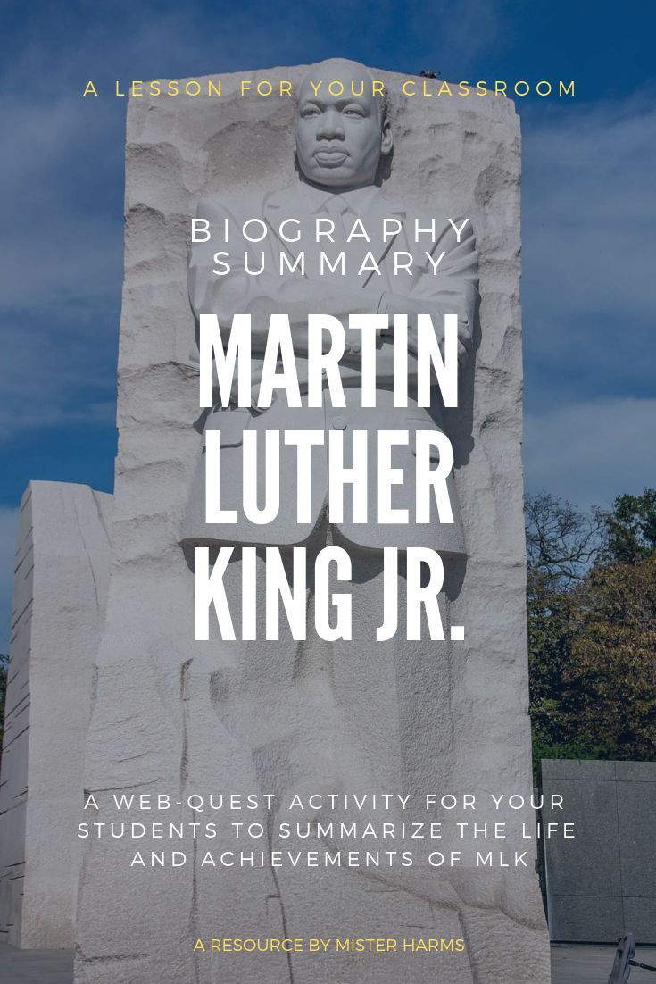 MLK Day: Martin Luther King Jr Activity, Webquest ...